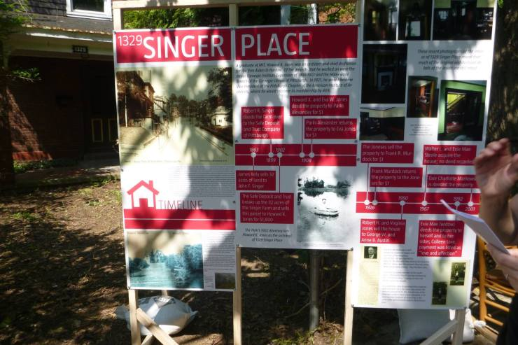 Singer Place display